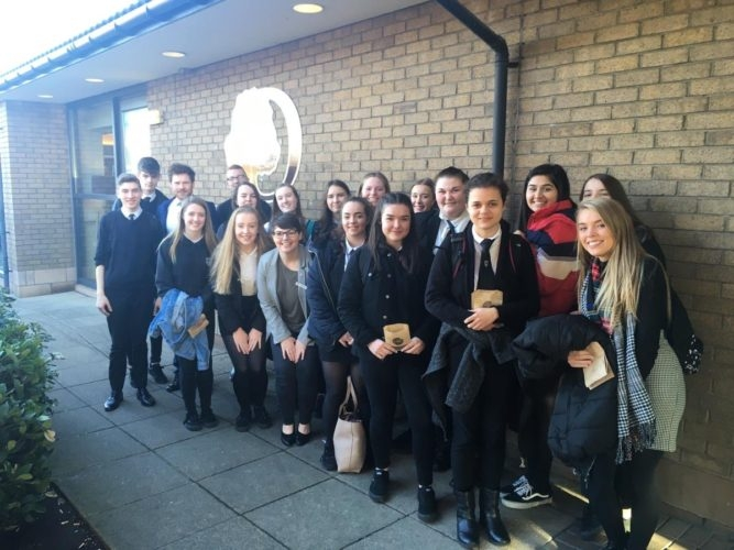 Hospitality: Students visiting Double Tree Hilton at Edinburgh Airport