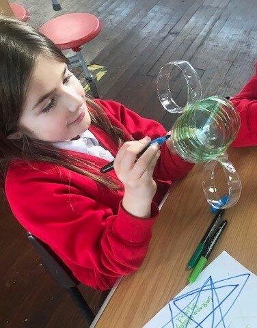 Making our plastic bottle trophy LFS Awards