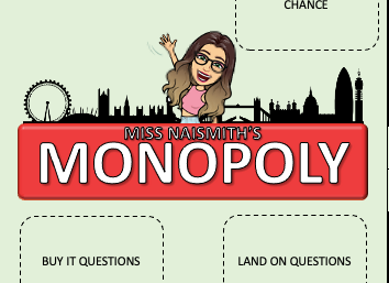 Miss Naismith's Chemistry Monopoly