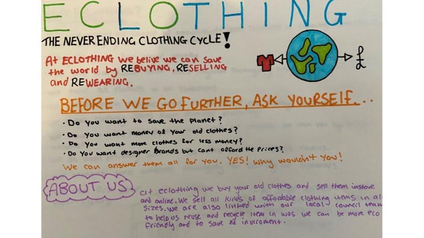 Logan's re-usable Fashion brand, 'EClothing'