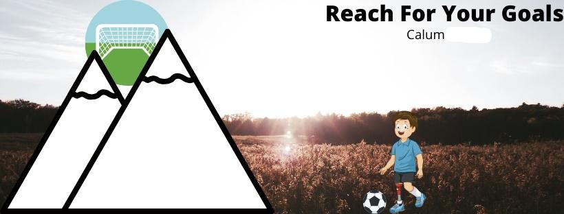Calum's book 'Reach For Your Goals' follows Jack, a promising young footballer, who is involved in a car accident and tragically loses one of his legs. After being told by a coach he'll never play football professionally, he is determined to prove him wrong and works toward this.